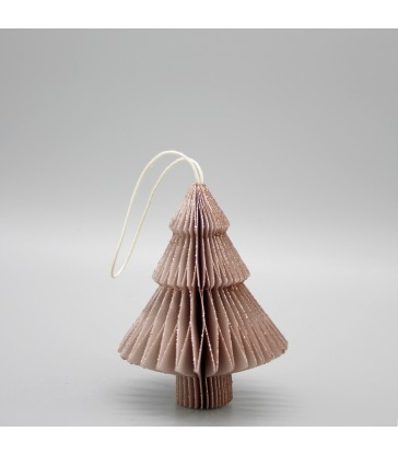 small pink glitter christmas tree decorations to hang on your tree