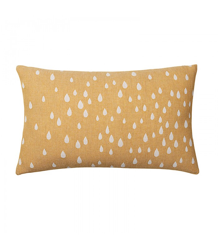 Yellow Raining Sun Cushion from Brita Sweden