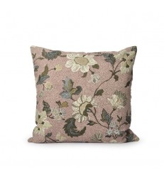 Dusty Pink Floral Linen/Cotton Cushion