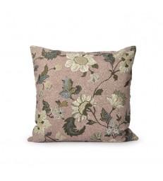 Dusty Pink Floral Linen/Cotton Cushion