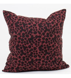 Puddles Winter Red Cushion