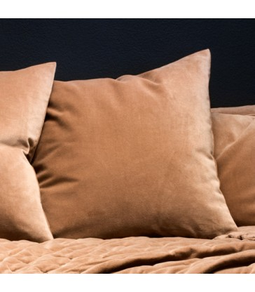 Caramel Brown Velvet Cushion