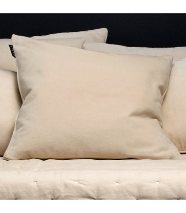 pale cream nuetral colour velvet cushion