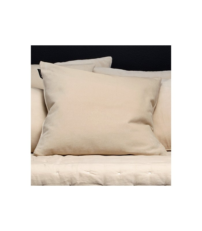 pale cream nuetral colour velvet cushion