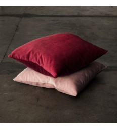 Dark Red Velvet Cushion