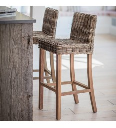 Rattan Bar Stool with back