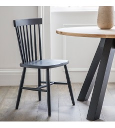 Spindle Back Dining Chair - Black