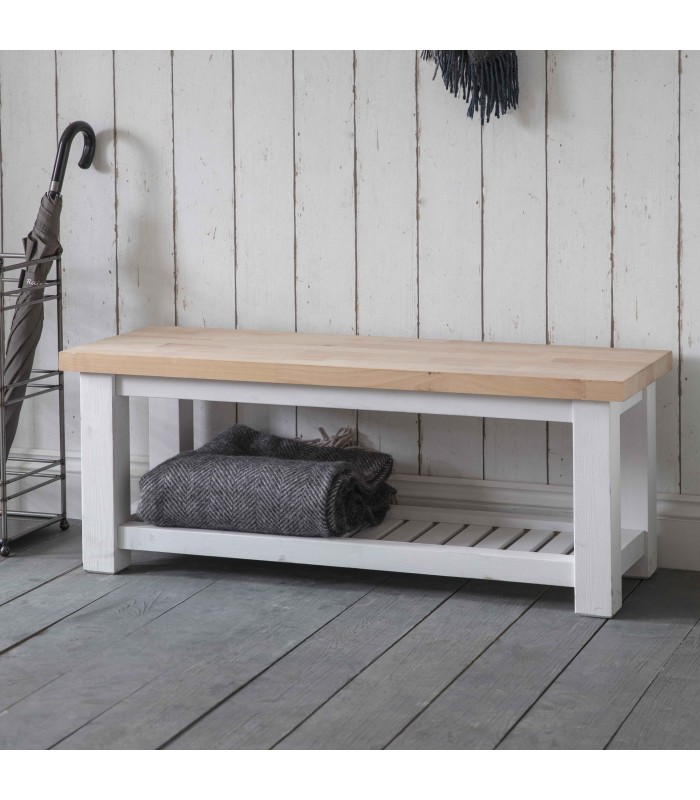 Hallway Bench with Beech Top