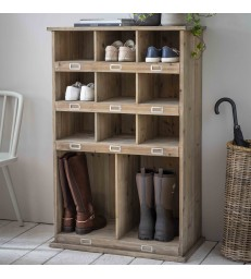 Large welly and shoe locker with 11 compartments