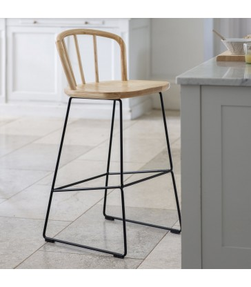 Modern Bar stool made from Ash and steel