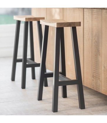 Contemporary Bar Stool with Painted Legs