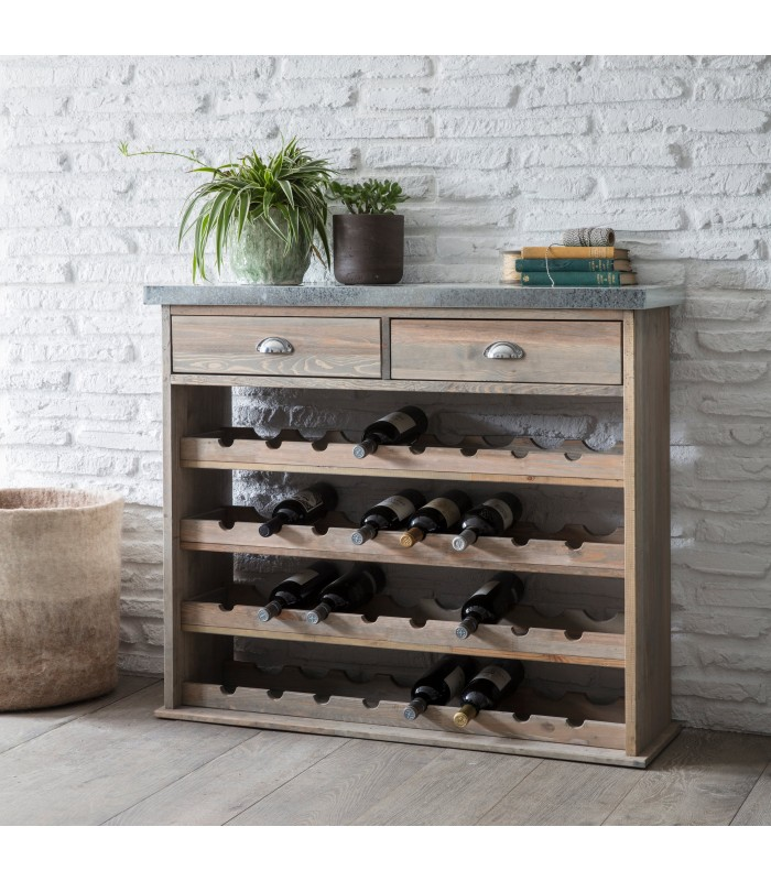 Wine Storage Unit with Drawers