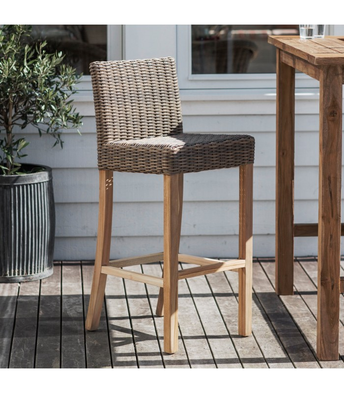 all weather rattan bar stool for garden dining