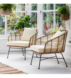 Pair of All weather bamboo Armchairs