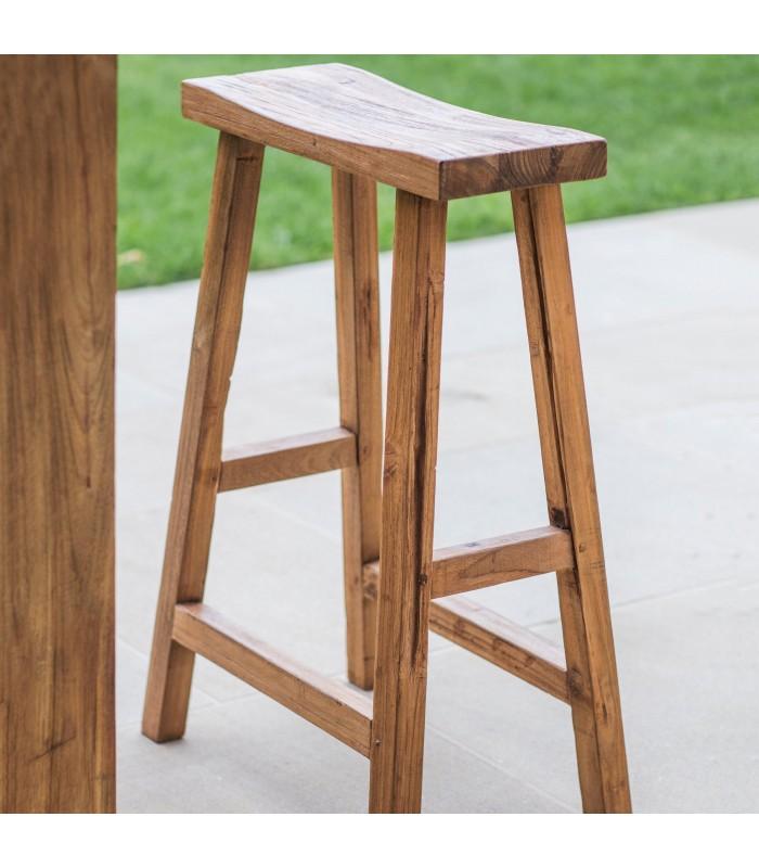 Reclaimed Teak Bar Stool - Outdoor Seating