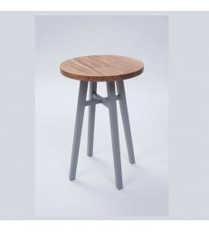 Timber Side Table with Grey Painted Legs