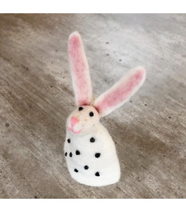 Long eared easter bunny egg warmer
