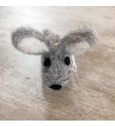Grey Felt Bunny Rabbit Decoration