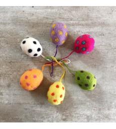 Felt Easter Egg Decorations - Pack of 6