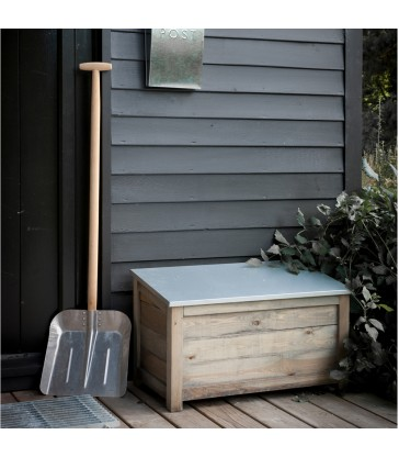 small garden storage box with weatherproof lid