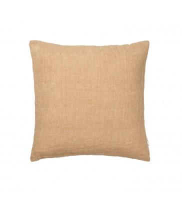 Caramel Brown Linen Cushion