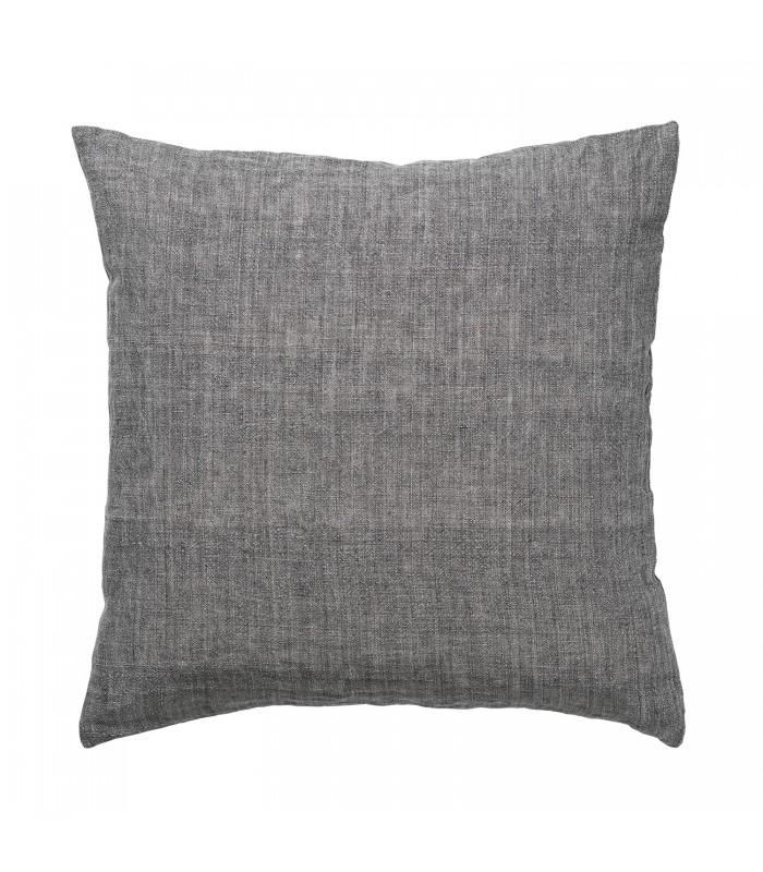 dark grey mocca linen cushion