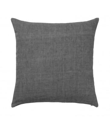 Dark Charcoal Grey Linen Cushion