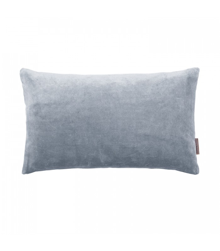 Small Flint Blue Velvet Cushion 30 x 50