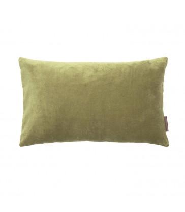 cedar green velvet cushion in a small 30x50cm size