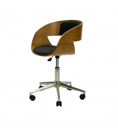 Oak Office Chair with Swivel Base