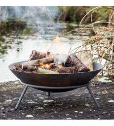 cast iron fire pit in modern design for your garden