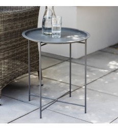 Metal Outdoor Table - Foldable legs Charcoal