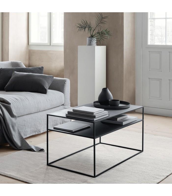 minimalist modern coffee table in metal