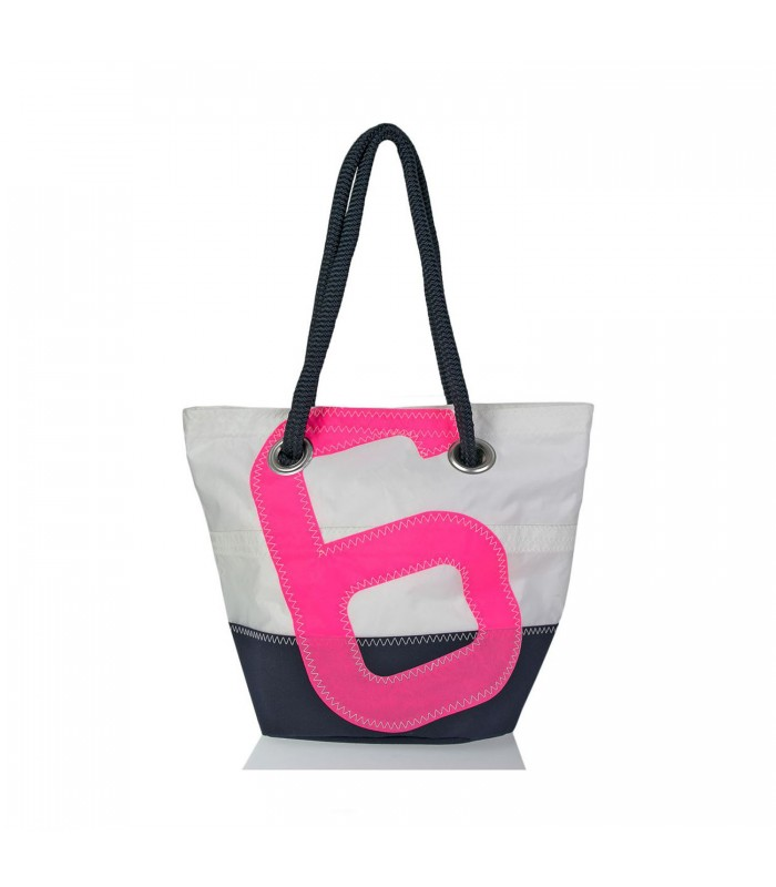 Handbag made from Recycled Sailcloth - Pink 6