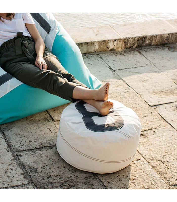 Small Pouffe made from recyced sailcloth - 8