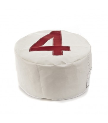 Pouffe made from recycled Sailcloth - 4