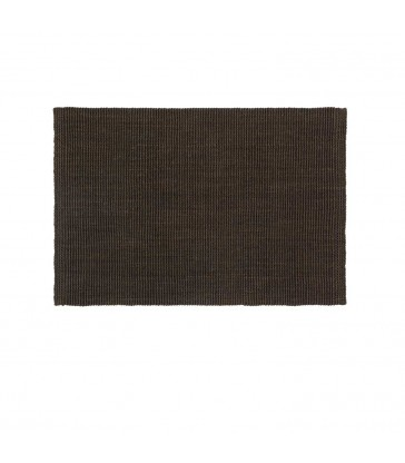 coffee brown jute doormat 90cm x 60cm