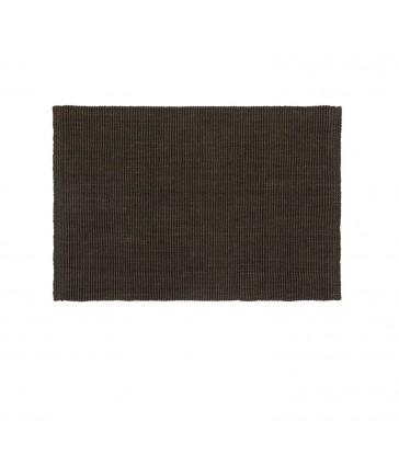 coffee brown jute doormat 90cm x 60cm