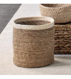 Set of 3 Seagrass Baskets - White