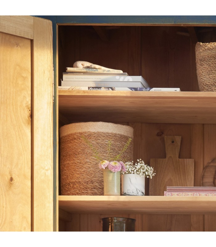 small seagrass storage baskets for keeping your cupboards tidy