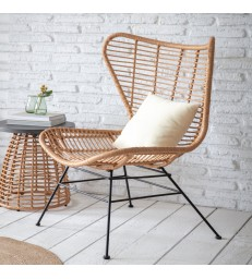 All Weather Bamboo Winged Armchair