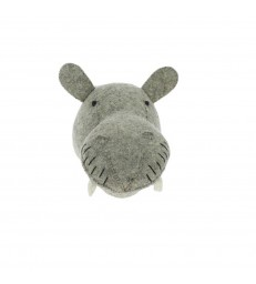 Mini Felt Hippo Head