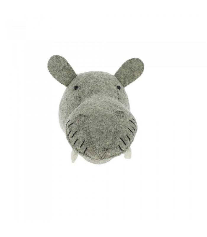 cute felt hippo animal heads for kids room