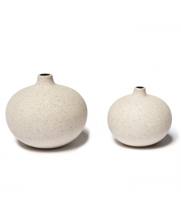 Pale Sand Ceramic Vase - 2 sizes