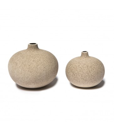 dark sand ceramic vases in two sizes