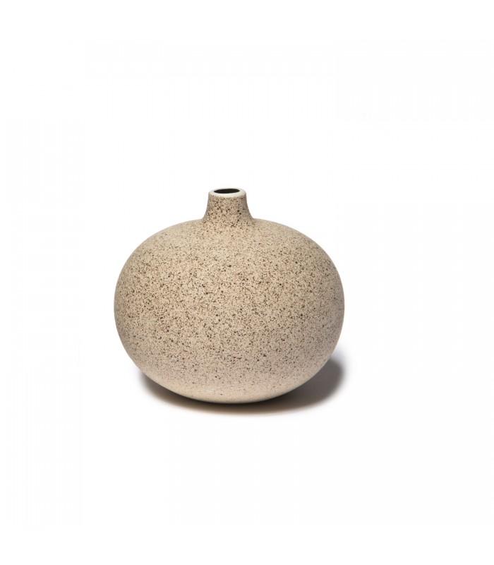 dark sand ceramic vase for single stem - small