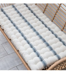 Double Seat Cushion for Double Bench - Charcoal Stripe