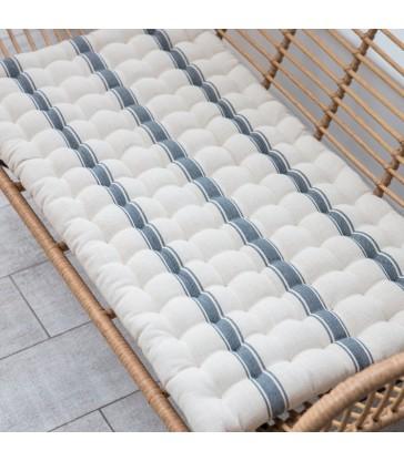 Double Seat Cushion - Charcoal Stripe