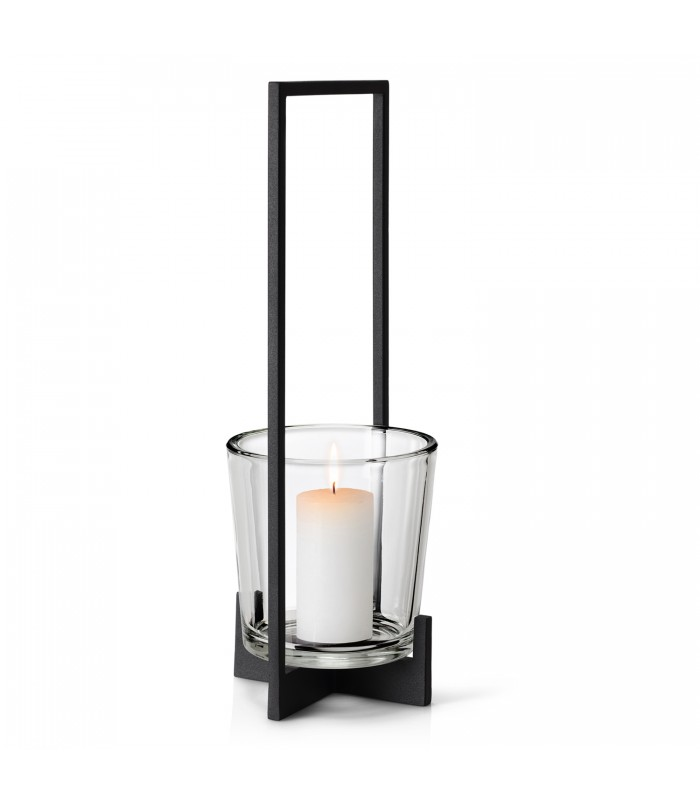modern black metal candle holder