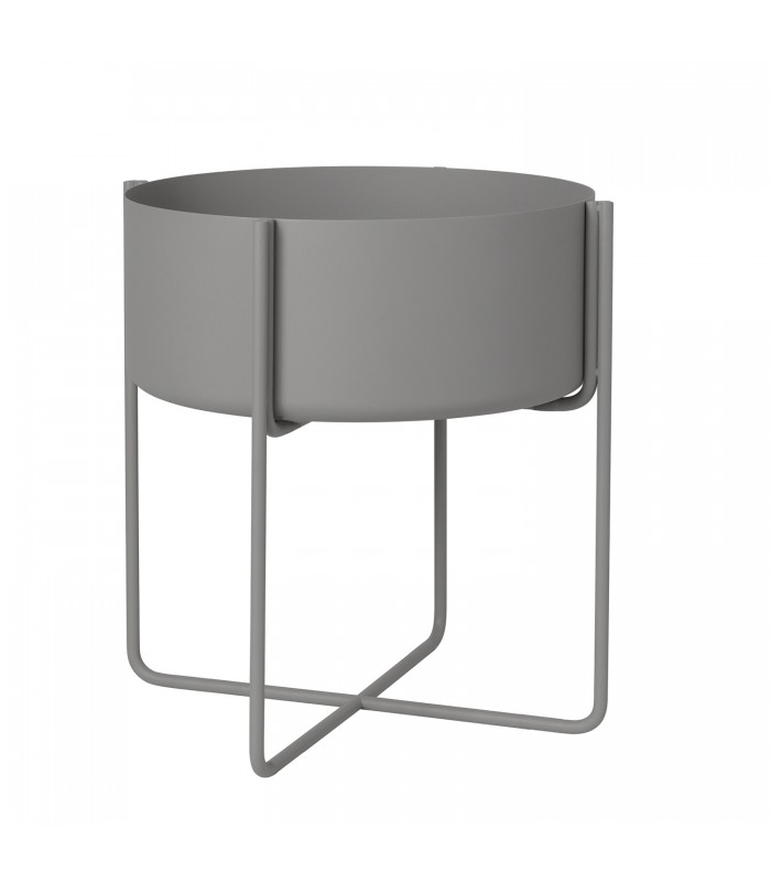 Modern Steel Grey raised Plant Holder